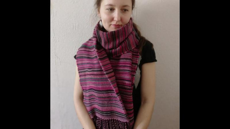 Экоакция - новый шарф из старых вещей!