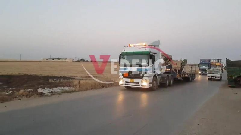 Очередной конвой с помощью для про американских сил СДС. В Восточном Дейр-эз-Зоре.