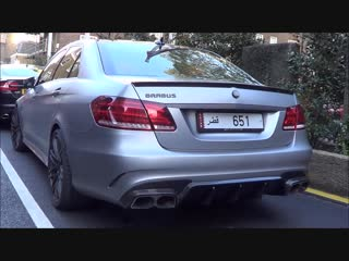 Arab Brabus Mercedes E63 AMGS Accelerations and Revs