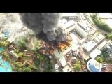Пожара в парке развлечений в Германии _ Fire in Europark amusement Rust, Germany