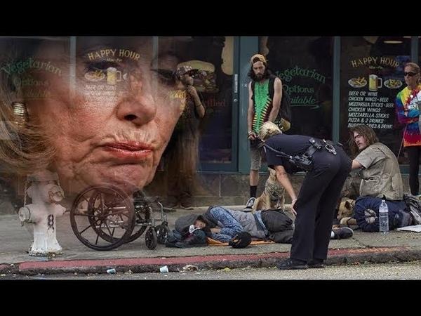 San Francisco Zombie like Homeless Mobs leave Pandering Elitist Libs Baffled Tourists Terrified