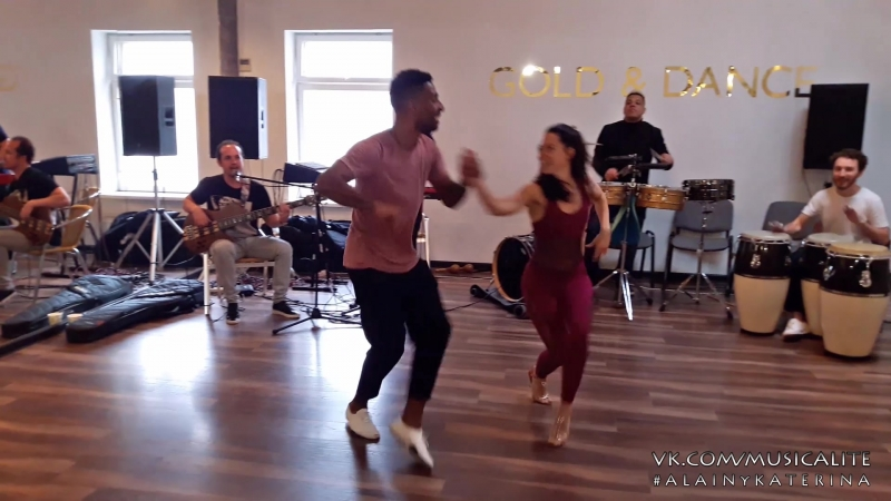 Alain Rueda Katerina Mik | Timba in action LIVE workshop @Entre La Rumba y El Son musicality course | Moscow, Russia 2018