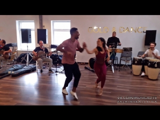 Alain Rueda & Katerina Mik | Timba in action LIVE workshop @Entre La Rumba y El Son musicality course | Moscow, Russia 2018