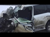 Водитель «Лэнд Крузера» погиб при столкновении с тягачом на трассе в Башкирии