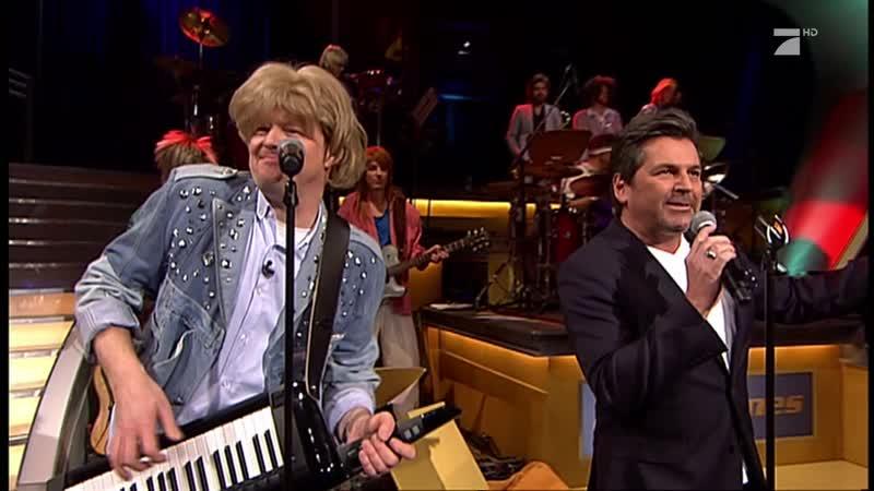 Thomas Anders Stefan Raab - Modern Talking Medley (PRO 7 HD, TV total, 08.12.2015)