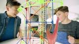 K'NEX Thrill Rides T-Rex Fury Roller Coaster Building Set with Ride It! App