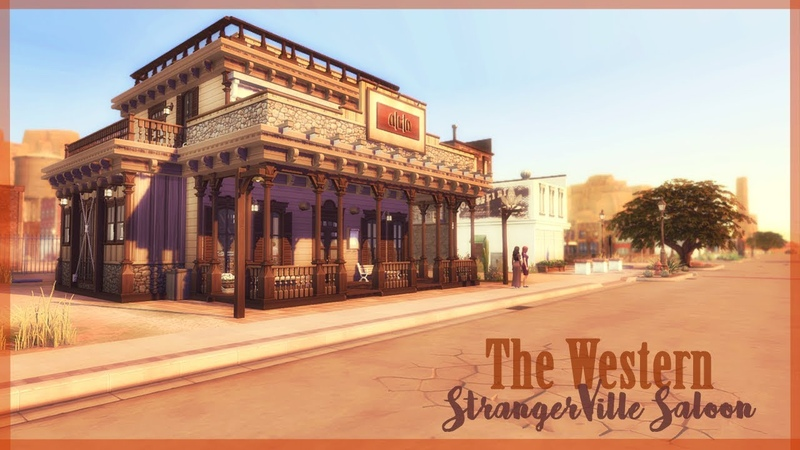 THE WESTERN    StrangerVille Saloon    The Sims 4 Renovation