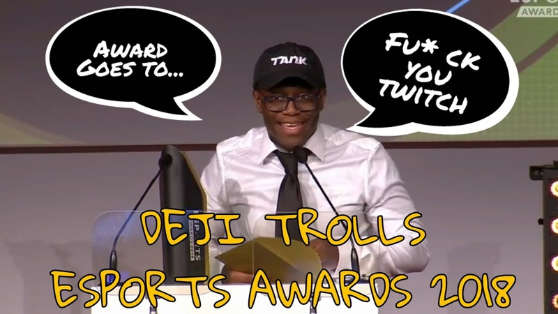 ESPORTS AWARDS 2018 DEJI TROLLS EPIC GAMES AND CALLS OUT TWITCH