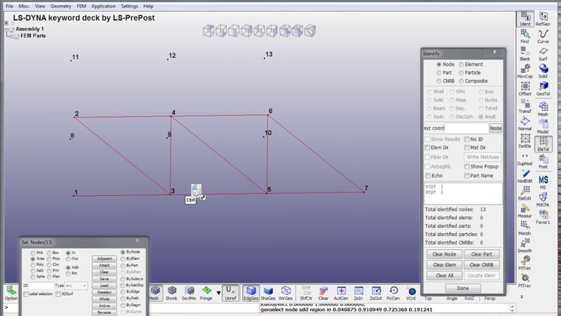 The modeling of the steelwork in LS-DYNA. Video tutorial (full)