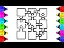 Glitter Jigsaw Puzzles Coloring and Drawing | Vẽ và tô màu Bộ Ghép Hình | Bé Học Tô Màu,Kidsboxtoys