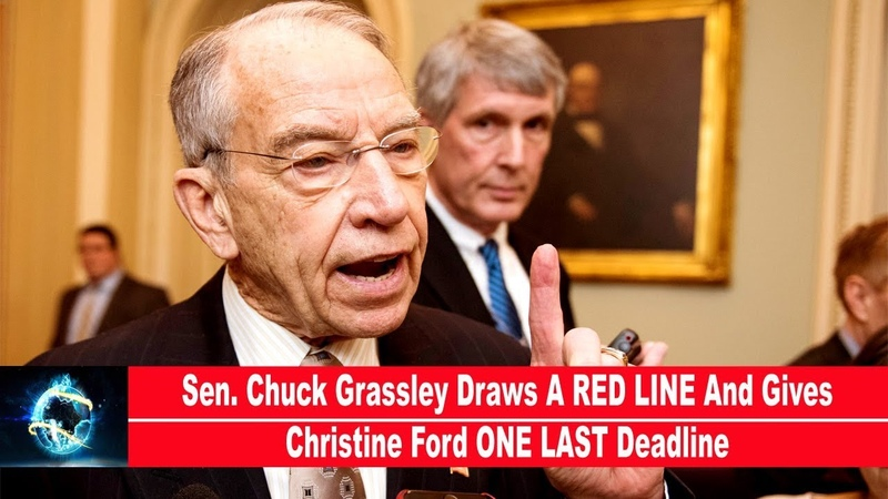 Sen. Chuck Grassley Draws A RED LINE And Gives Christine Ford ONE LAST Deadline(VIDEO)