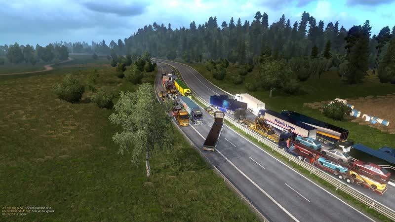 Конвой НЕГАБАРИТОВ в Euro Truck Simulator 2 от MTI