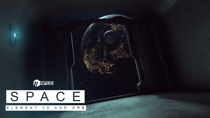 SCI - FI SPACE CORRIDOR |ELEMENT 3D AND VC ORB | NPS3D || 2018