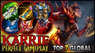Karrie Perfect Gameplay&Build by [LSTR | Wizer] Top 7 Global - Mobile Legends