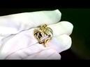 Золотая подвеска для влюблённых💏 Мужчина и женщина с бриллиантом