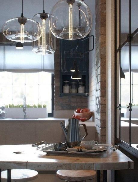 Небольшая кухня в стиле лофт