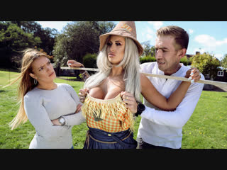 Brooklyn Blue - Sex With The Scarecrow Brazzers. HD1080, Big Tits, Blonde, MILF, Stockings, Uniform