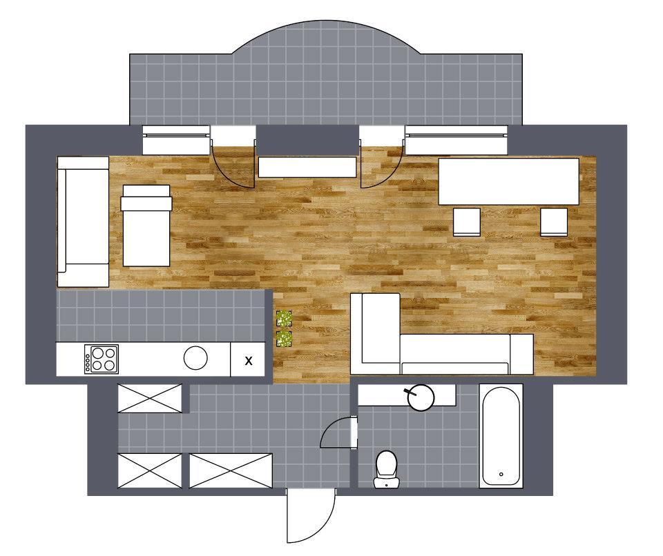 Квартира 52 кв.