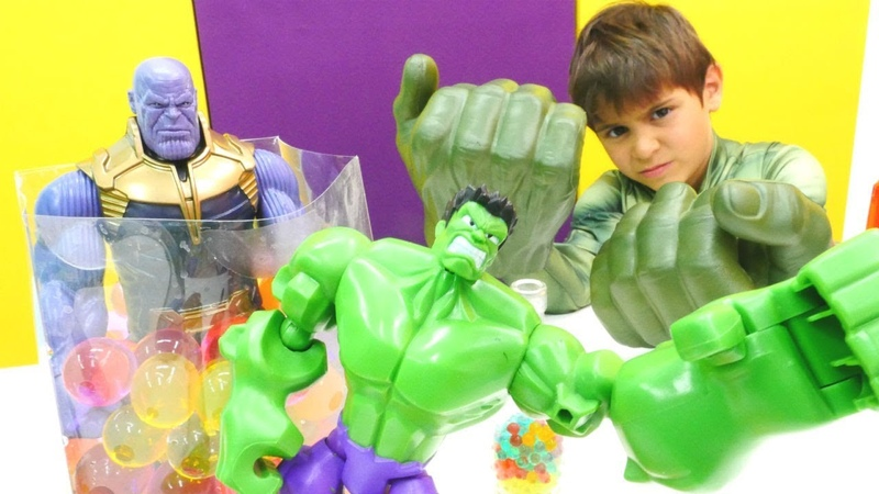 Hulk ve Thanos Marvel oyuncakları. Thanos'u akıllandırıyoruz