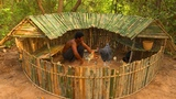 Building The Most Bamboo Paradise House For wild Chickens