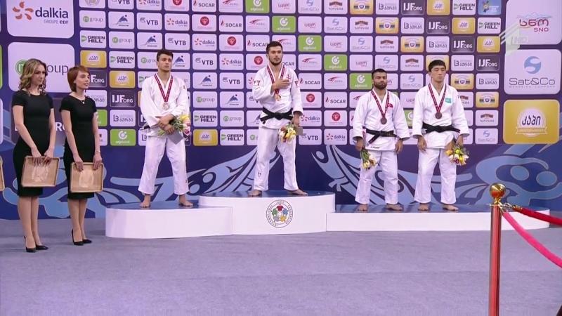 Tbilisi Grand Prix 2016 ვაჟა მარგველაშვილის ვაზარით მოპოვებული ოქროს მედალი იტალიელ ფაბიო ბასილესთან დაჯილდოვება