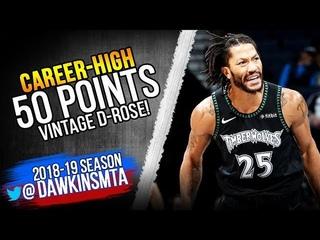 Derrick Rose CAREER-HiGH 50 Pts! 2018.10.31 vs Jazz - ViNTAGE D-ROSE! | FreeDawkins