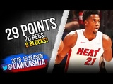 Hassan Whiteside Full Highlights 2018.11.07 Heat vs Spurs - 29 Pts, 20 Rebs, 9 Blks! FreeDawkins