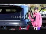 Video of Justin leaving at Patys Restaurant in Toluca Lake, California (October 17)