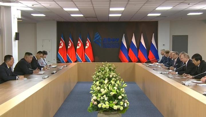 Вести.Ru: Путин и Ким проговорили в два раза дольше запланированного