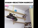 Chain-reaction haircut via @josephsmachines
