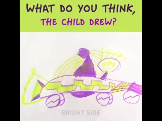 Can you understand the child's drawing?