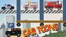 Мультик про служебные машинки, полиция, скорая помощь и пожарная машина в супер игре Car Toons