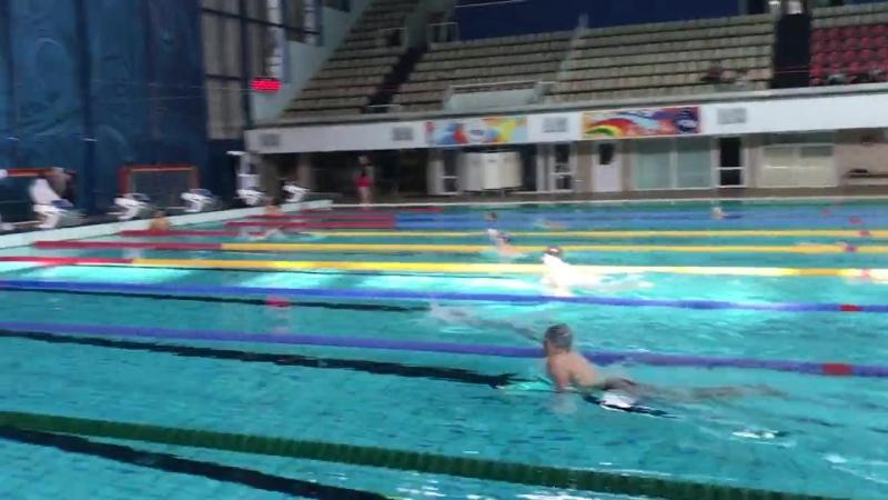 100м брасс, старшее первенство олимп-цетра(23.05.18) Павел Болтнев