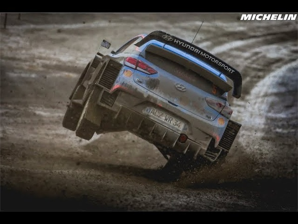 WRC. Лучшие моменты Ралли Великобритания от Michelin Motorsport