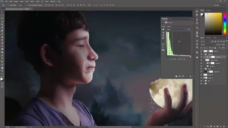 The moon - Speed art (Photoshop) - CreativeStation