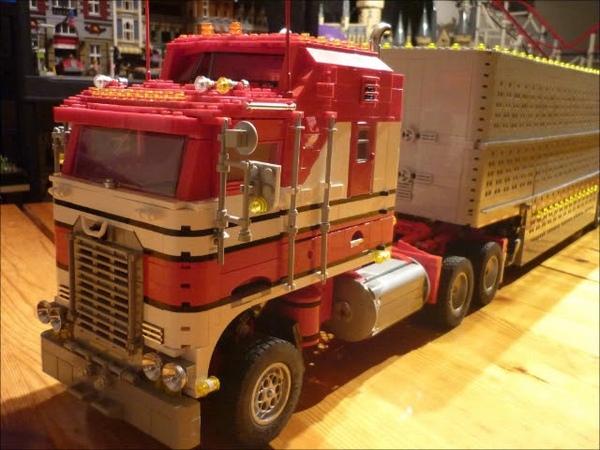 Lego® Technic Kenworth T100 Aerodyne Cabover Truck mit Eigenbau cattle livestock trailer 38