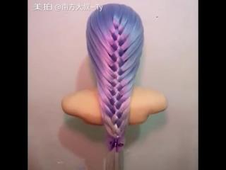 Схема плетения красивой косы