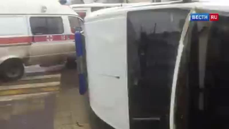 ВестиRu Скорая помощь с маленьким пациентом перевернулась после ДТП в Краснодаре