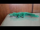How to make 3d origami crocodile easy