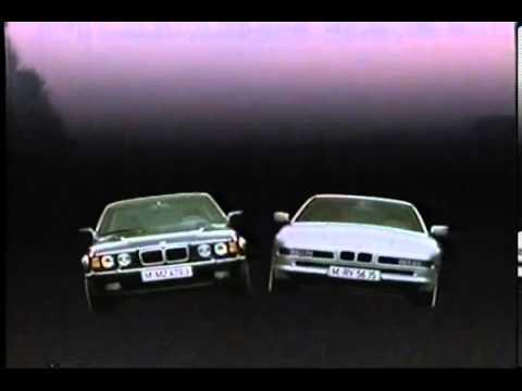 Advert BMW 850i 750il 1990 Japan TV