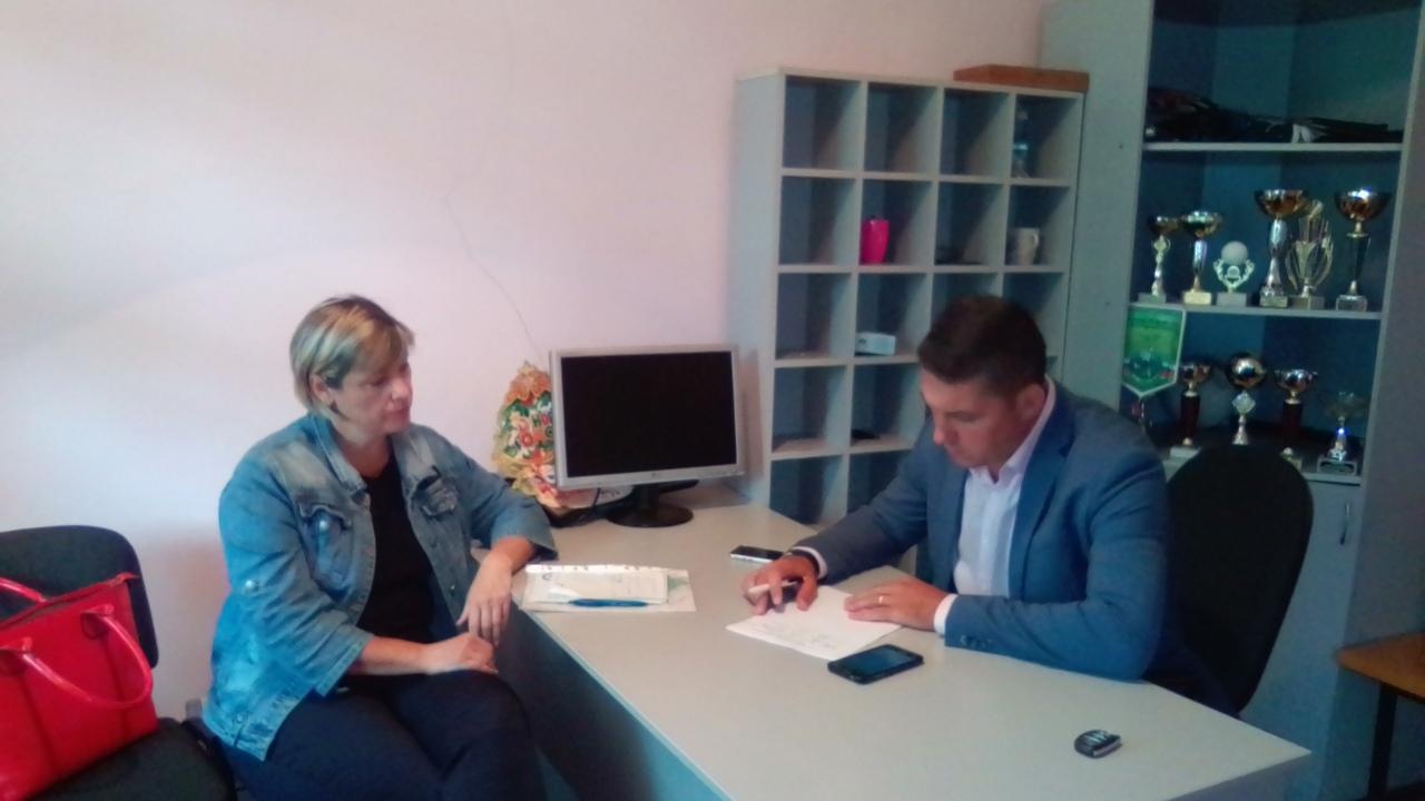 Глава администрации г.Балабаново Вячеслав Парфёнов провел личный прием граждан