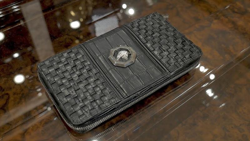 Мужское портмоне от Stefano Ricci, крокодил, review: ID 158791