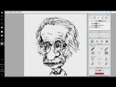 Скоростной рисунок Альберта Эйнштейна Parblo A609