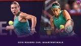 Simona Halep vs. Caroline Garcia 2018 Rogers Cup Quarterfinals WTA Highlights