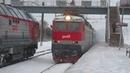 Электровоз ЧС7-016 с поездом№073А Москва-Львов станция Селятино 21.02.2019