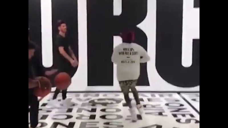 Lil Yachty Comes Up Short On A Dunk Attempt!!