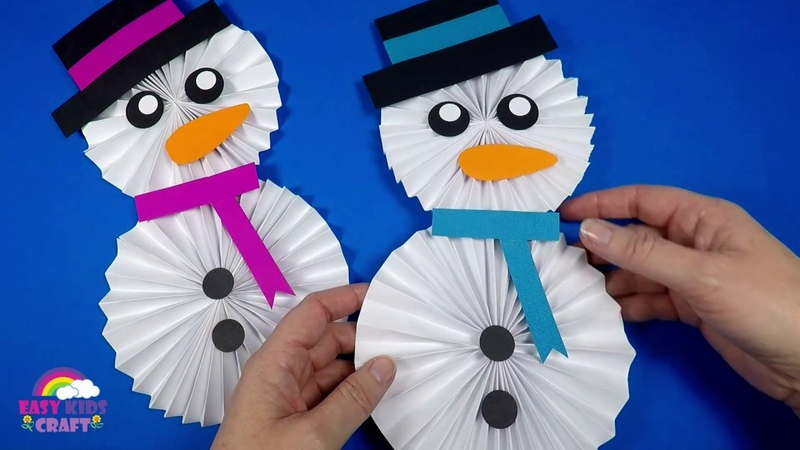 How to Make a Paper Snowman | Christmas Craft for Kids