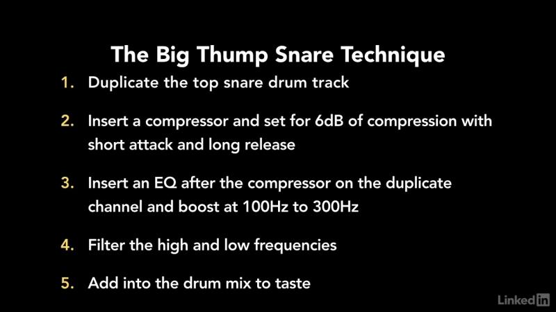 75 Big thump snare