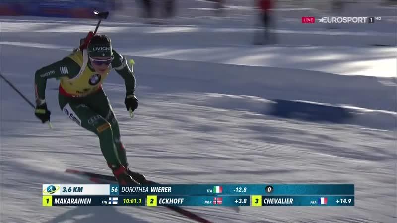 2018–19 Biathlon World Cup. Hochfilzen (AUT). Women 7.5 km Sprint
