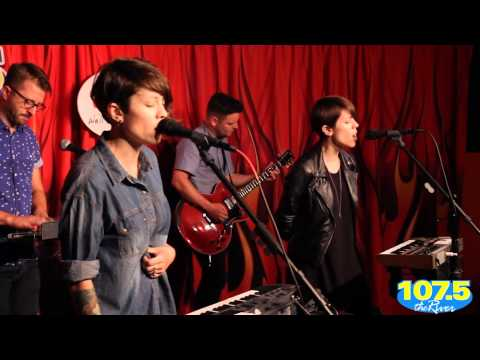 Tegan Sara How Come You Dont Want Me (acoustic) at Rivers Garage in Nashville on 22 sept 2013
